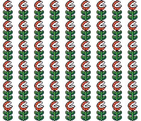piranha-plant-ed fabric by rachel1 on Spoonflower - custom fabric