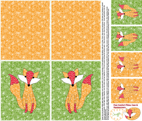 A Foxy Warmable Snuggle Kit: Bonus Handwarmers fabric by vo_aka_virginiao on Spoonflower - custom fabric