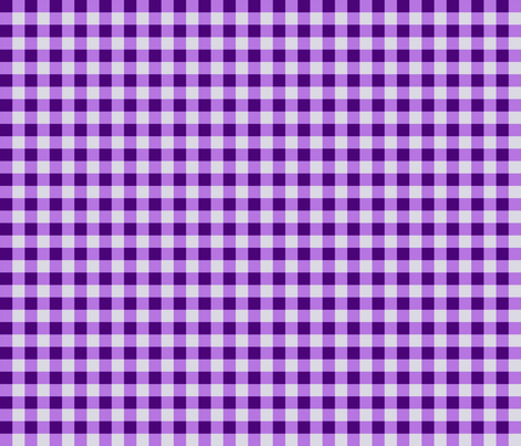 Purple Gingham Checks, Country Prim fabric by cherie on Spoonflower - custom fabric