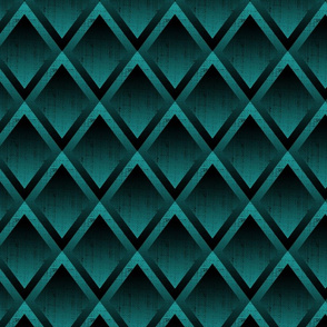 Art Deco Diamond Teal