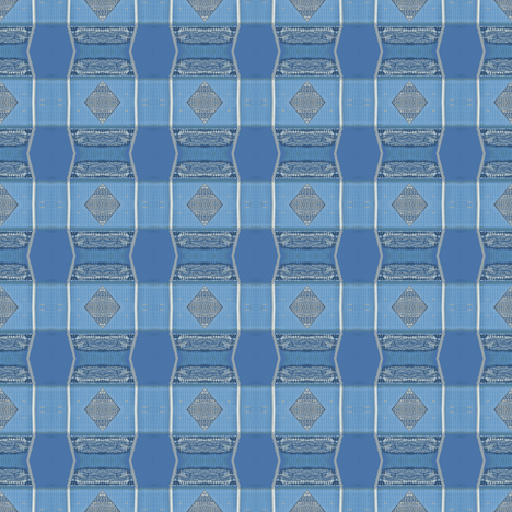 Blue silver plaid fabric by greennote on Spoonflower - custom fabric