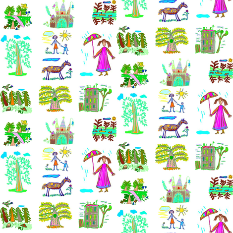 Kid Stuff fabric by ravynscache on Spoonflower - custom fabric