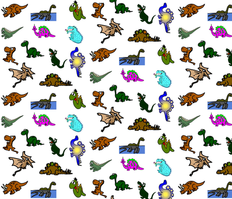 Child Dinosaurs fabric by ravynscache on Spoonflower - custom fabric