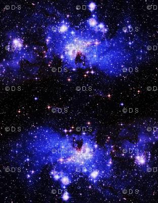 galaxy print - violet, blue, pink
