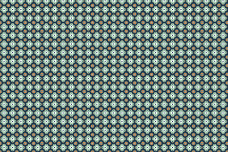 Silk Road - Orange and Mint fabric by elephantandrose on Spoonflower - custom fabric