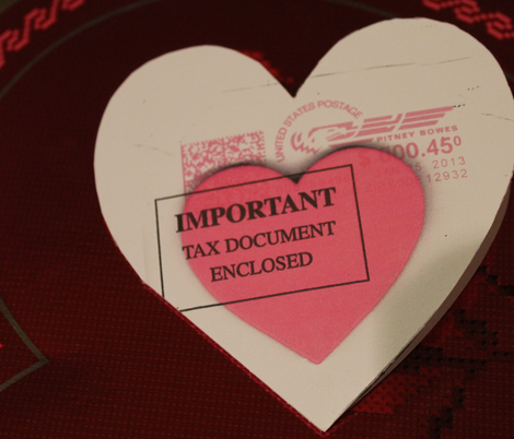 Tax Document Valentine fabric by pinkchamplain on Spoonflower - custom fabric