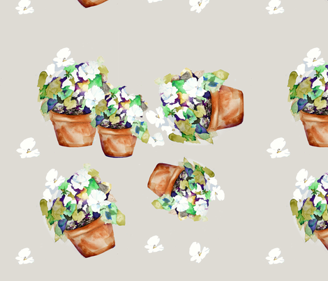 Cachets of Petunias fabric by karenharveycox on Spoonflower - custom fabric