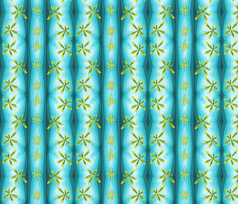 Flowery waterfall fabric by tajaan on Spoonflower - custom fabric