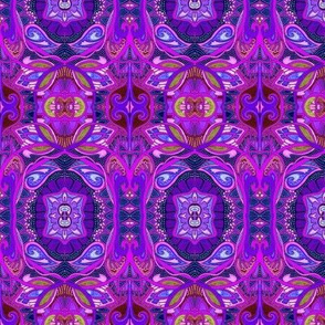 Purple Daze (a psychedelic retro sixties vine and scallop trip)