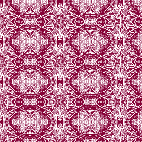Gothic Uprising In An Art Nouveau World fabric by edsel2084 on Spoonflower - custom fabric