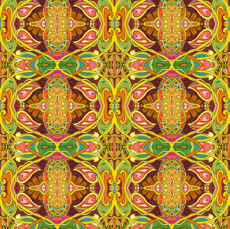 Psychedelic Under a Summer Sun (drippy figure 8 vertical stripe) fabric by edsel2084 on Spoonflower - custom fabric