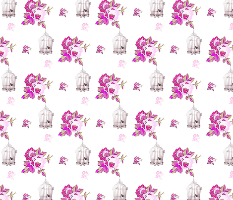Rose Cage fabric by loloballs on Spoonflower - custom fabric
