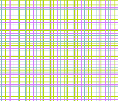 Plaid for funky ribbons - white fabric by ragan on Spoonflower - custom fabric