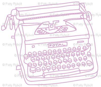 Royal Typewriter (lavender + white)