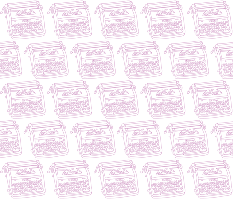 Royal Typewriter (lavender + white) fabric by pattyryboltdesigns on Spoonflower - custom fabric