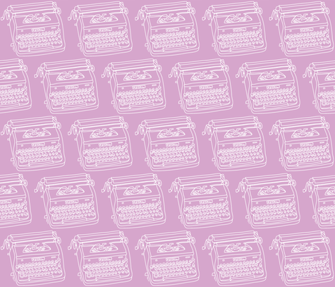 Royal Typewriter (white + lavender) fabric by pattyryboltdesigns on Spoonflower - custom fabric