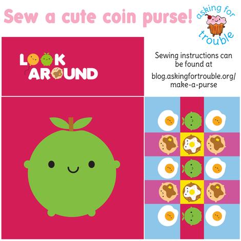 Kawaii Apple Coin Purse - Cut & Sew Pattern