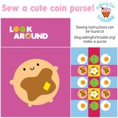 Kawaii Pancake Coin Purse - Cut & Sew Pattern