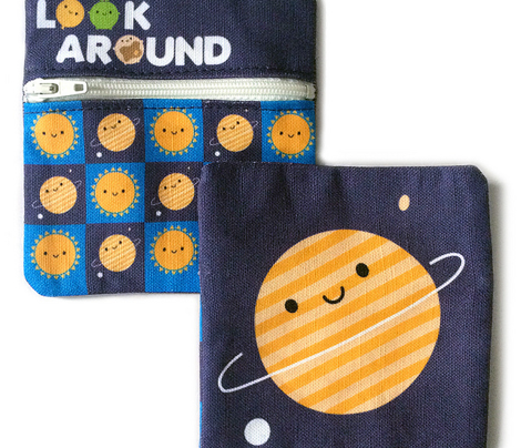 Kawaii Planet Coin Purse - Cut & Sew Pattern