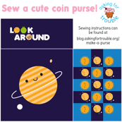 Kawaii Planet Coin Purse - Cut & Sew Pattern