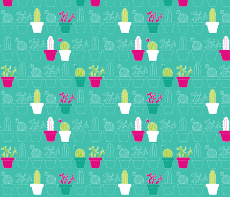 Mini Cactus Joy fabric by joyfulroots on Spoonflower - custom fabric