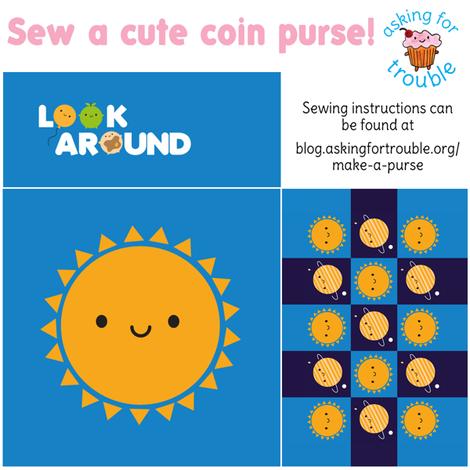 Kawaii Sun Coin Purse - Cut & Sew Pattern