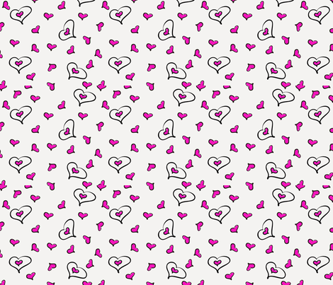 Valentine's heart fabric by jessysantos on Spoonflower - custom fabric