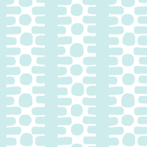 Bumpy Dotty Stripe 2 (white + lt. aqua) fabric by pattyryboltdesigns on Spoonflower - custom fabric