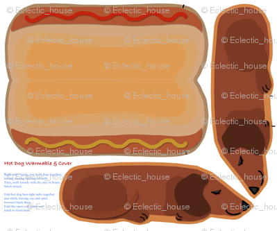Microwavable Body Warmer HotDog