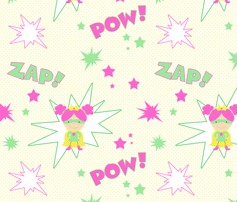 Girl Power fabric by mgterry on Spoonflower - custom fabric