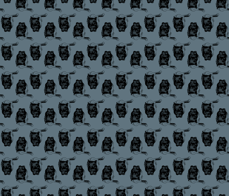 coal fabric by cuddlebat on Spoonflower - custom fabric