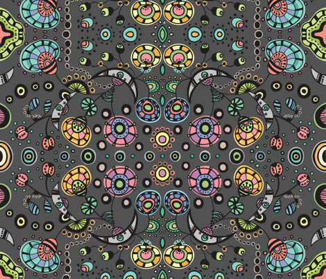 Funky Bloom fabric by janet_antepara on Spoonflower - custom fabric