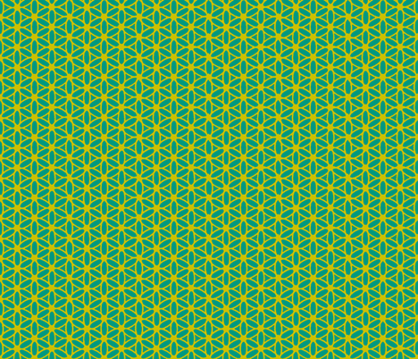 Flower of Life - Teal Lime fabric by leahvanlutz on Spoonflower - custom fabric
