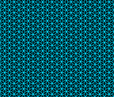 Flower of Life - Black Blue fabric by leahvanlutz on Spoonflower - custom fabric