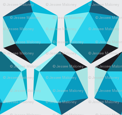 Geometric Shape #002 - Teals