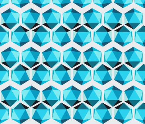Geometric Shape #002 - Teals fabric by jesseesuem on Spoonflower - custom fabric