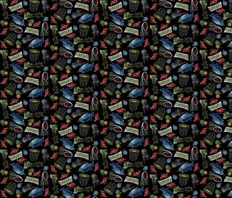 Aloha Bahooka! fabric by eric_october on Spoonflower - custom fabric