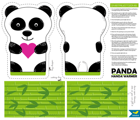 Panda Handa Warmer Cut & Sew fabric by jenimp on Spoonflower - custom fabric