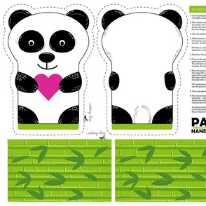 Panda Handa Warmer Cut & Sew