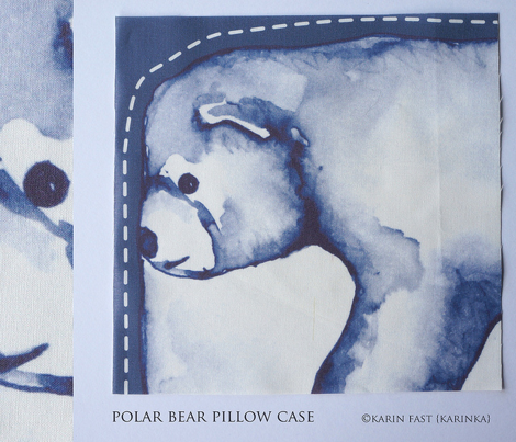 polar bear cut and sew pillow case