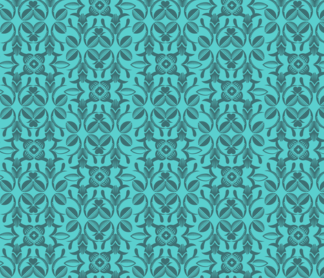 Ornate garden blue fabric by cjldesigns on Spoonflower - custom fabric