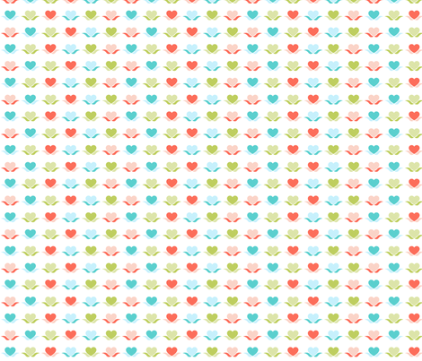 Heart spot fabric by cjldesigns on Spoonflower - custom fabric
