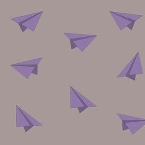 Purple paper planes