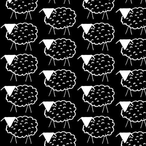 Baaaaa! inverted (or Aaaaab!) fabric by anniedeb on Spoonflower - custom fabric