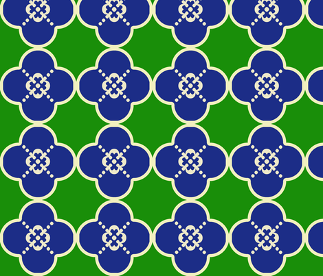 clover3GreenandBlue fabric by mgterry on Spoonflower - custom fabric