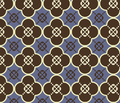 clover4GreyandBrown fabric by mgterry on Spoonflower - custom fabric