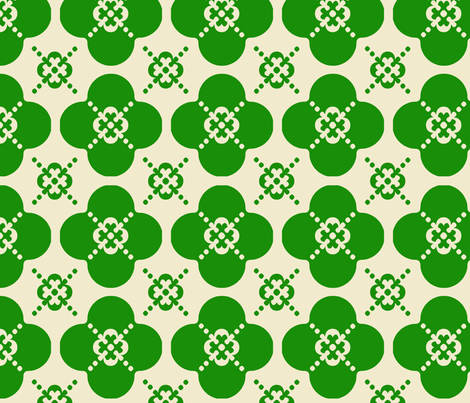 clover5 fabric by mgterry on Spoonflower - custom fabric