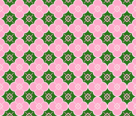 cloverPinkandGreen fabric by mgterry on Spoonflower - custom fabric