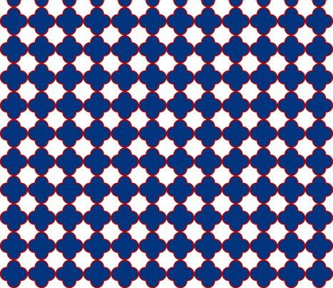 cloverRedWhiteandBlue fabric by mgterry on Spoonflower - custom fabric