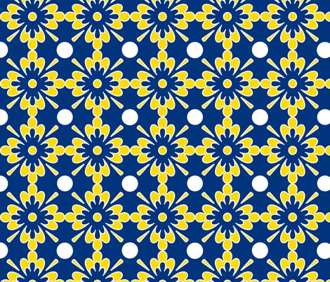flowers fabric by mgterry on Spoonflower - custom fabric